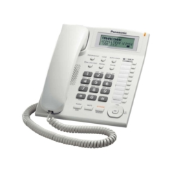 TELEFONE PANASONIC KX-TS880LX - BINA - BRANCO - COM FIO
