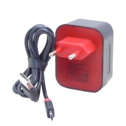 CARREGADOR ONLY USB - V8 - 2AMP - 15 MINUTOS - VERMELHO
