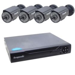 KIT DVR ECOPOWER EP-C003 - FULL HD - 4 CANAIS - 4 CAMERAS