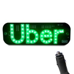 """LED PLACA """"UBER"""" 12V (AUTOMOTIVO)"""