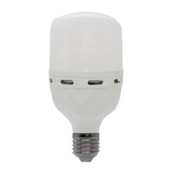 LAMPADA LED ECOPOWER EP-5908 30W/EMERGENCIA - BRANCO