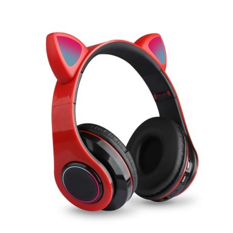 FONE ECOPOWER CAT EARS EP-H133 BT/TF/LED - VERMELHO