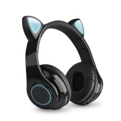 FONE ECOPOWER CAT EARS EP-H133 BT/TF/LED - PRETO