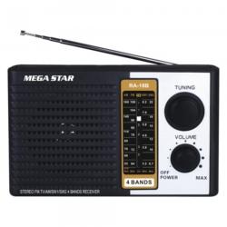 RADIO MEGASTAR RA-18 4 BANDAS - 2V