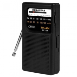 RADIO MEGASTAR CX-16 AM/FM 2 BANDAS