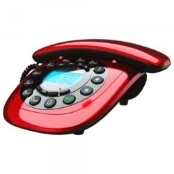 TELEFONE MEGASTAR FTC12 COM FIO BINA - VERMELHO