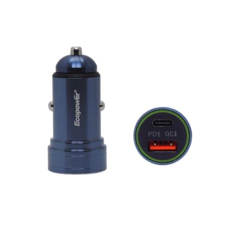 CARREGADOR VEICULAR ECOPOWER EP-7060 USB/TIPO C/12V - 24V