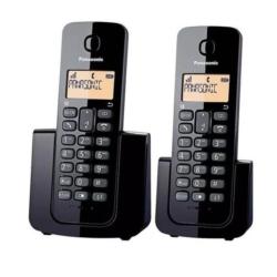 TELEFONE PANASONIC KX-TGB112LAB BINA/2BASE /PRETO/ 2V