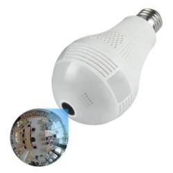LAMPADA LUO COM CAMERA SMART V380 WIFI 360