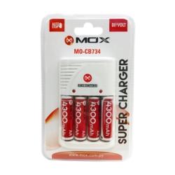 CARREGADOR MOX MO-CB734 AA*4 4300 2V