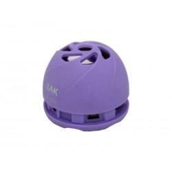 SPEAKER BAK BK-S202 SD-USB-ROXO-PEQUENA