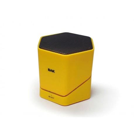 SPEAKER BAK BK-S237 AMARELO USB LED GIRATORIO C/CONTROLE
