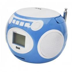 SPEAKER BAK BK-S247 BOLA FM/SD/USB/VIS AZUL