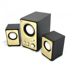 SPEAKER BAK BK-S311USB 2.1/USB/SD/FM AMARELO