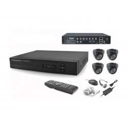DVR COM KIT POWERPACK 4 CAMERAS - DVRCA-044 - INDOOR