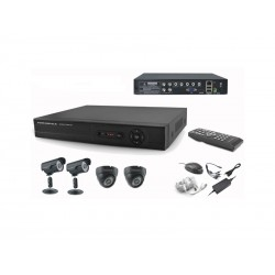 DVR COM KIT - POWERPACK - 4 CAMERAS DVRCA-046 - 2IN + 2OUT