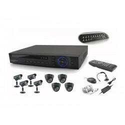 DVR COM KIT POWERPACK - 8 CAMERAS - DVRCS-086 - 4IN + 4OUT