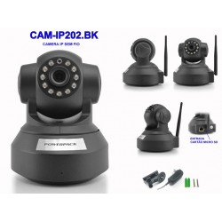 CAMERA IP POWERPACK - CAM-IP202 HD - WIFI - 1MG - PRETO