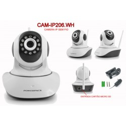 CAMERA IP POWERPACK - CAM-IP206 HD - WIFI - 1MG - BRANCO