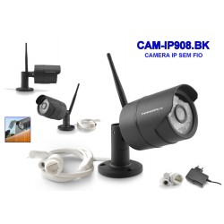 CAMERA IP POWERPACK - CAM-IP908 - WIFI - A PROVA DE AGUA