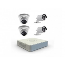 DVR VIZZION KIT - VZ-0804 - 8 CANAIS - 4 CAMERAS HD