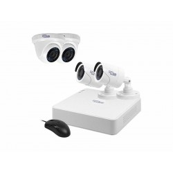 DVR VIZZION KIT VZ-0404- 4 CANAIS - 4 CAMERAS - HD 1TB