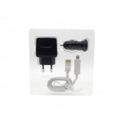 CARREGADOR UNIVERSAL ECOPOWER EP-7027 - 2 USB - 12-24V - BIVOLT