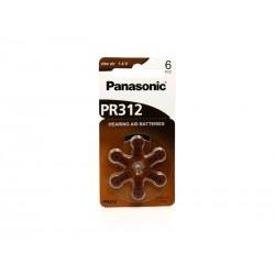 BATERIA +312 PANASONIC PR-312 C/06 UNID (AP SURDEZ)