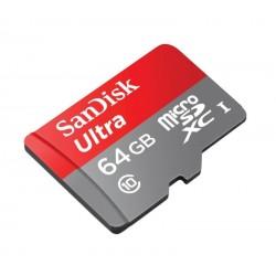 MEMÓRIA SANDISK ULTRA MICRO-SD 64GB CLASSE-10 80MB/s